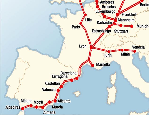 Foment garanteix els amples ibèric i europeu en el tram entre Vandellòs i Tarragona del corredor