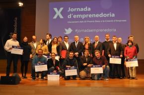 El lliurament dels premis a la creació d'empreses clou la desena Jornada d'Emprenedoria
