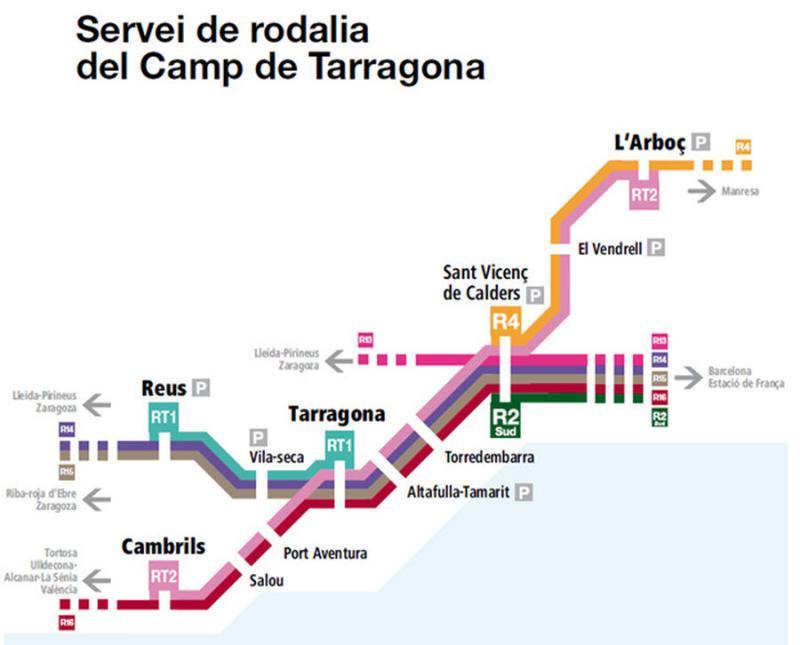 Pocs usuaris en l'estrena del nou servei de rodalia entre Tarragona i Reus